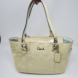 COACH | LEATHER EMBOSSED TOTE SHOULDER PURSE